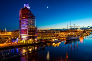 Long exposure of Gothenburg / G?teborg city.